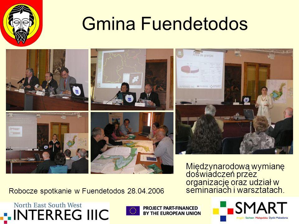 Gmina Fuendetodos Międzynarodową wymianę doświadczeń przez organizację oraz udział w seminariach i warsztatach.