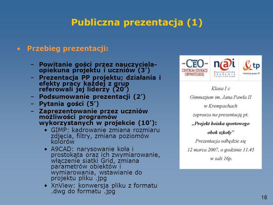 Publiczna prezentacja (1)