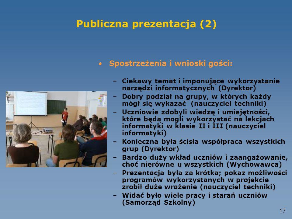 Publiczna prezentacja (2)