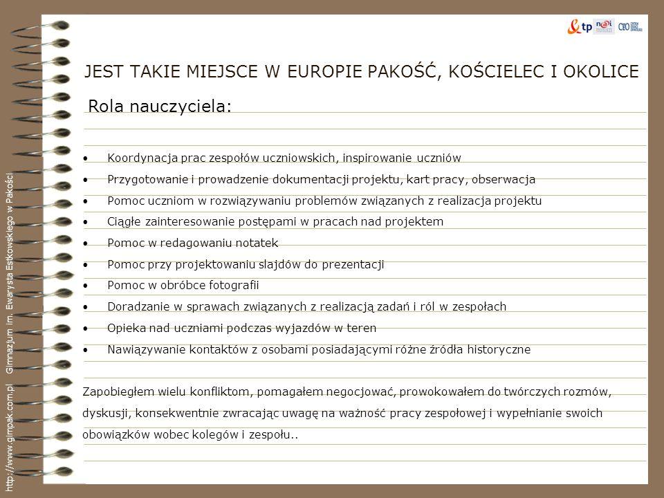 JEST TAKIE MIEJSCE W EUROPIE PAKOŚĆ, KOŚCIELEC I OKOLICE