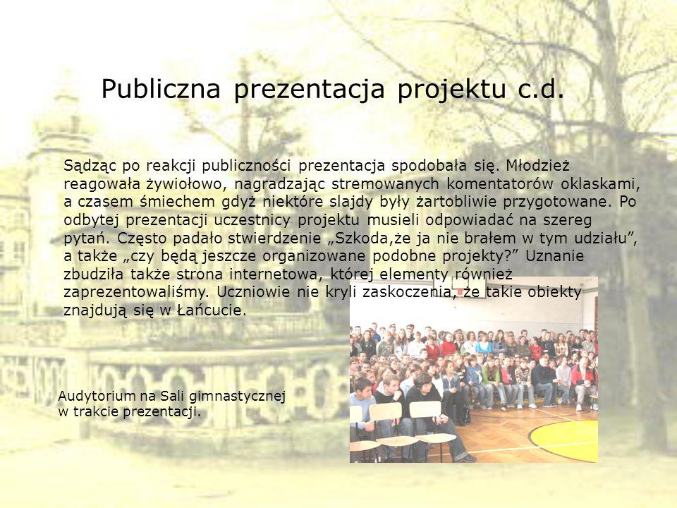 Publiczna prezentacja projektu c.d.