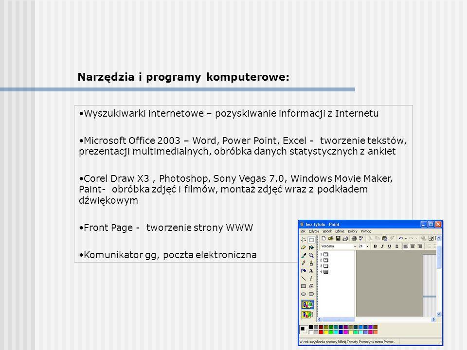 Narzędzia i programy komputerowe: