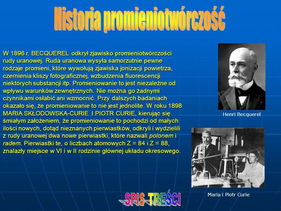 Historia promieniotwórczość