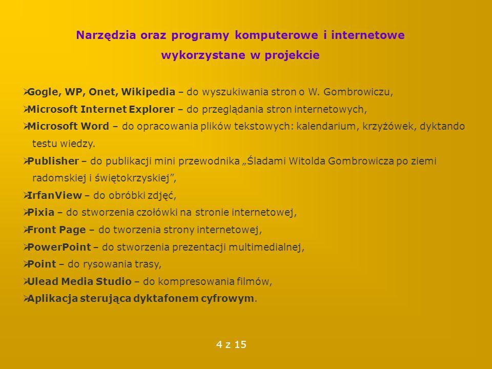 Narzędzia oraz programy komputerowe i internetowe