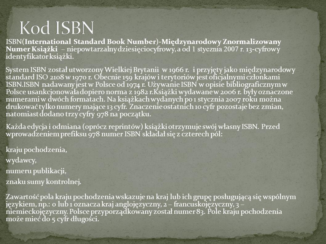 Kod ISBN
