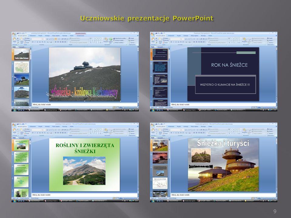 Uczniowskie prezentacje PowerPoint