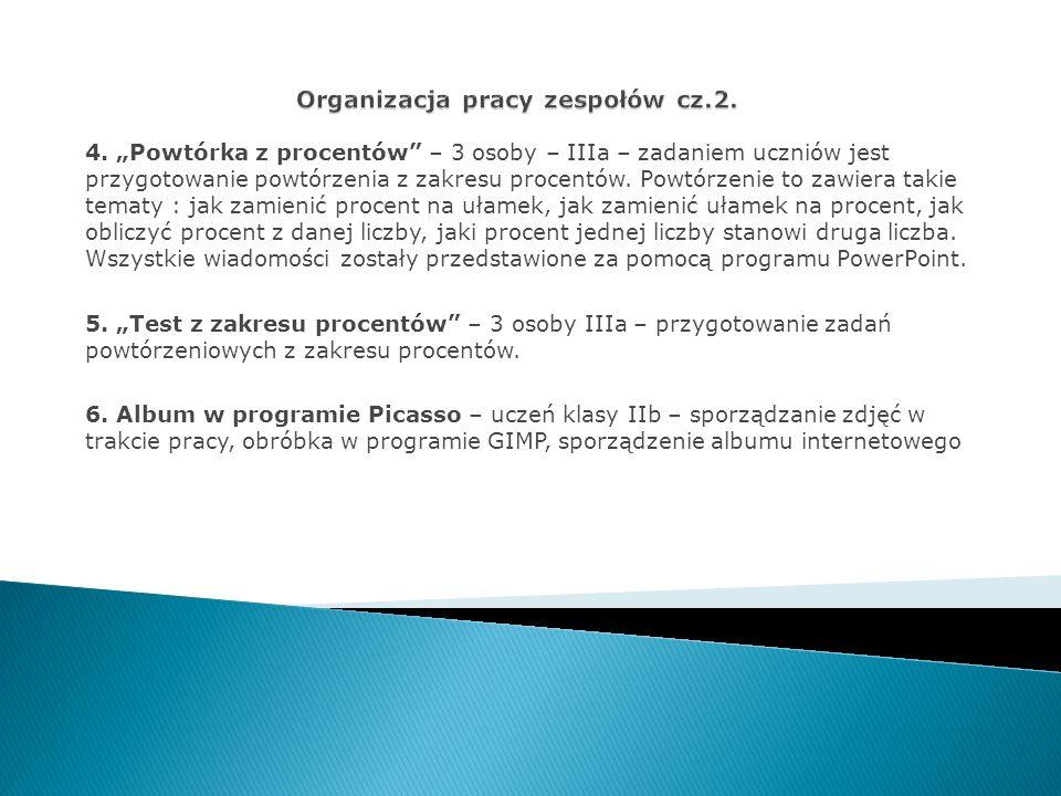 Organizacja pracy zespołów cz.2.