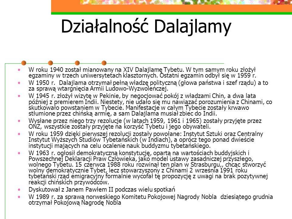 Działalność Dalajlamy