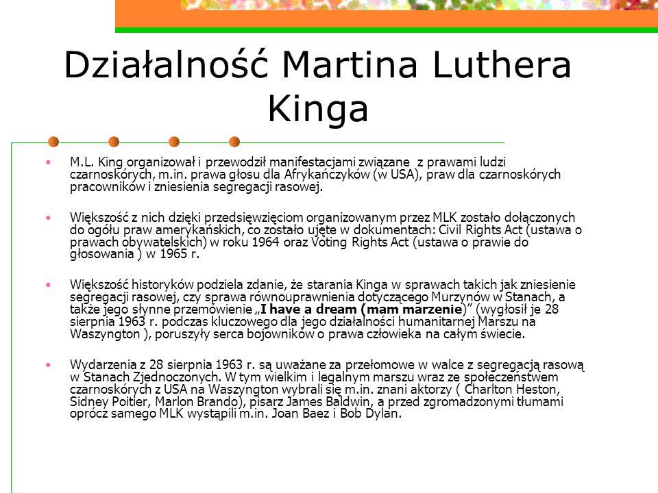 Działalność Martina Luthera Kinga