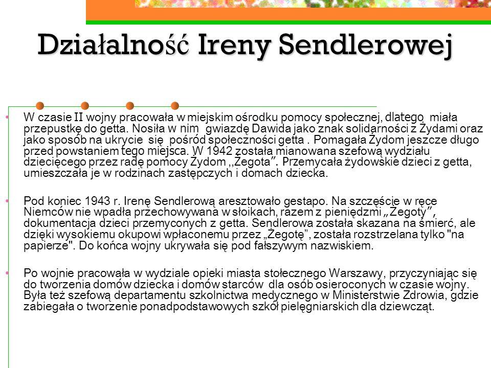 Działalność Ireny Sendlerowej