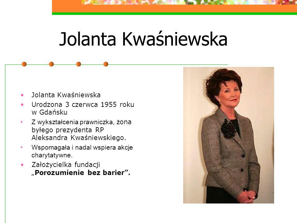 Jolanta Kwaśniewska Jolanta Kwaśniewska