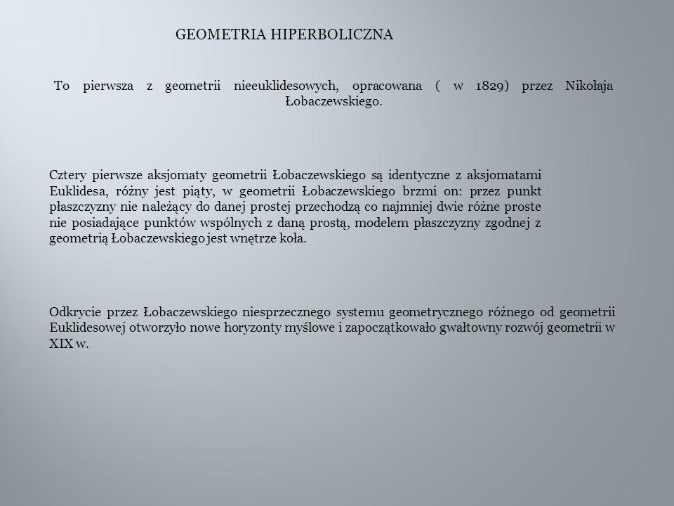 GEOMETRIA HIPERBOLICZNA