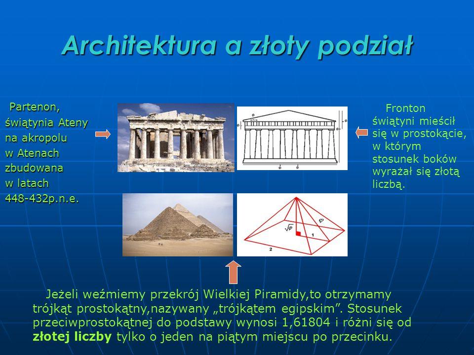 Architektura a złoty podział