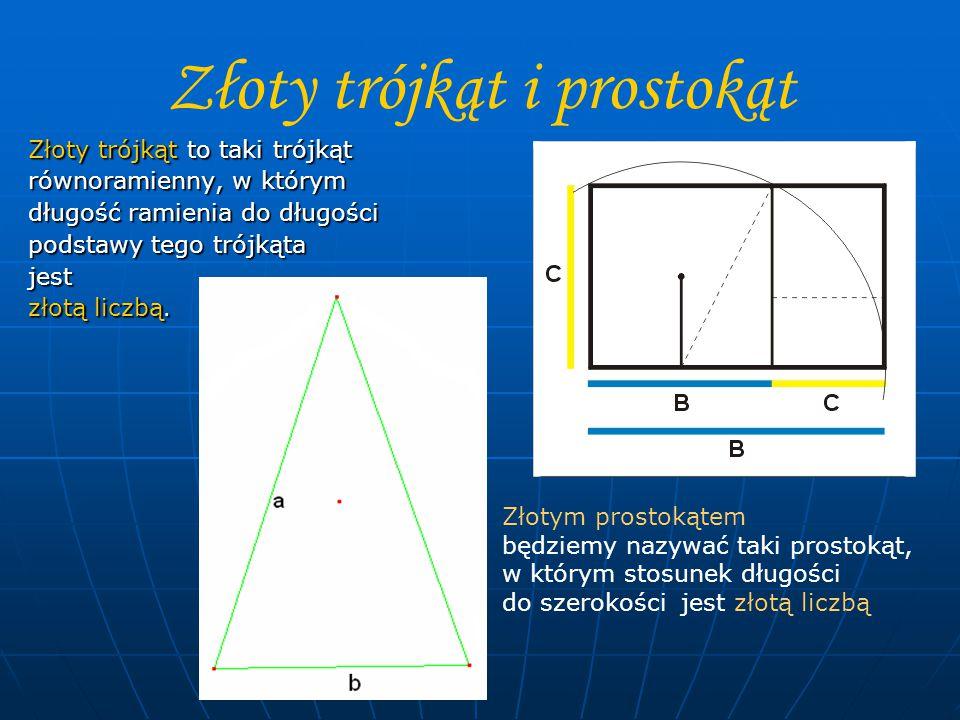 Złoty trójkąt i prostokąt