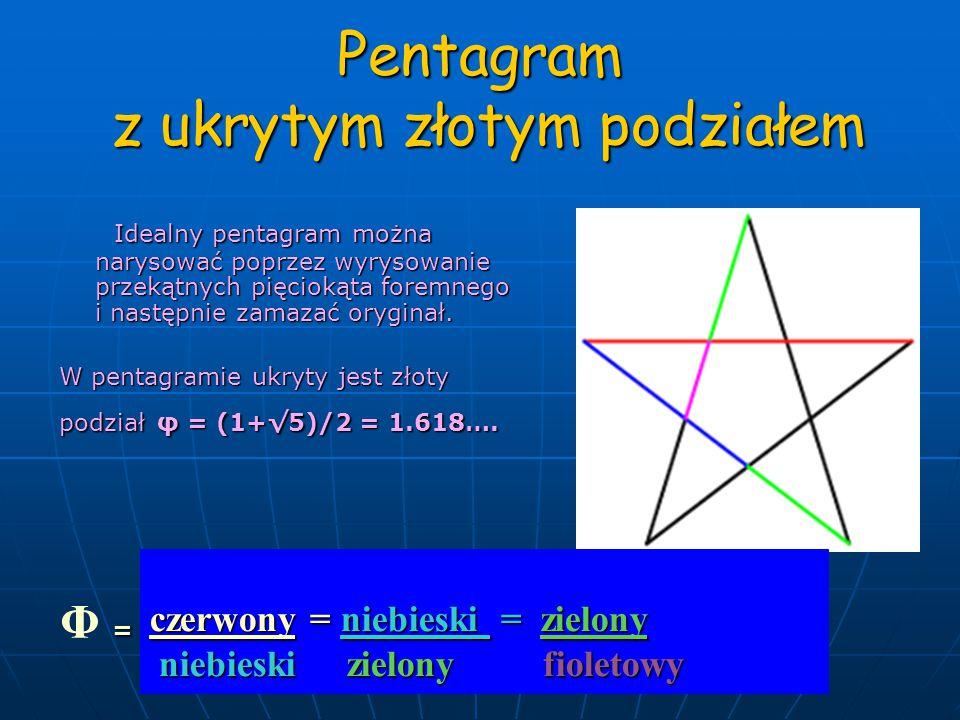 Pentagram z ukrytym złotym podziałem