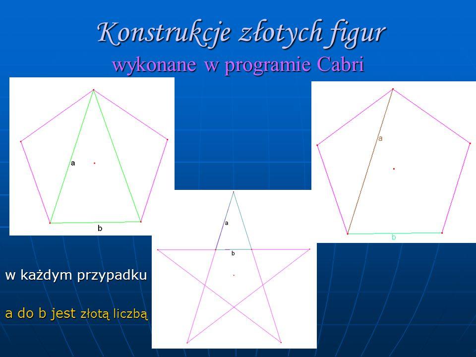 Konstrukcje złotych figur wykonane w programie Cabri