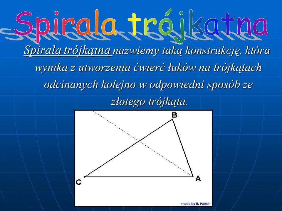 Spirala trójkatna Spiralą trójkątną nazwiemy taką konstrukcję, która