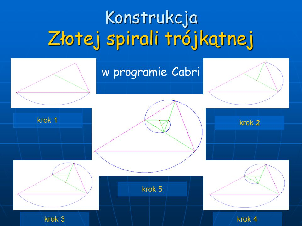 Konstrukcja Złotej spirali trójkątnej