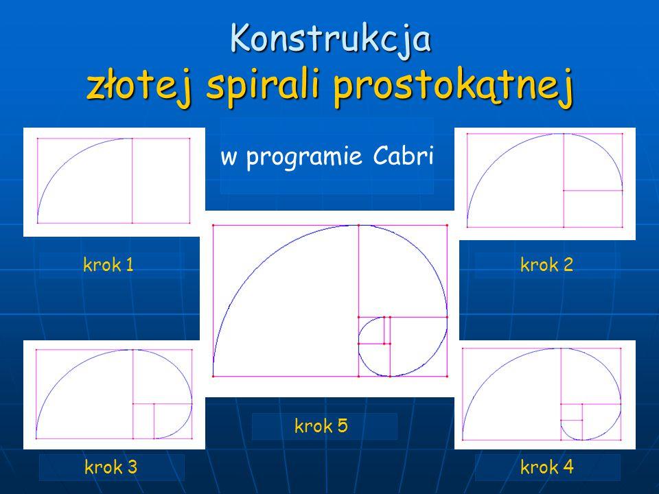Konstrukcja złotej spirali prostokątnej