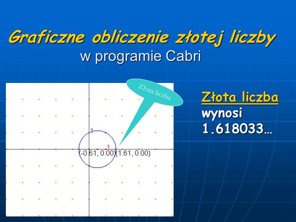 Graficzne obliczenie złotej liczby w programie Cabri