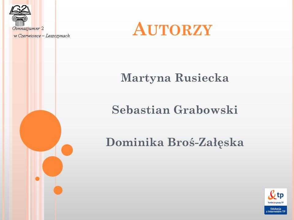 Martyna Rusiecka Sebastian Grabowski Dominika Broś-Załęska