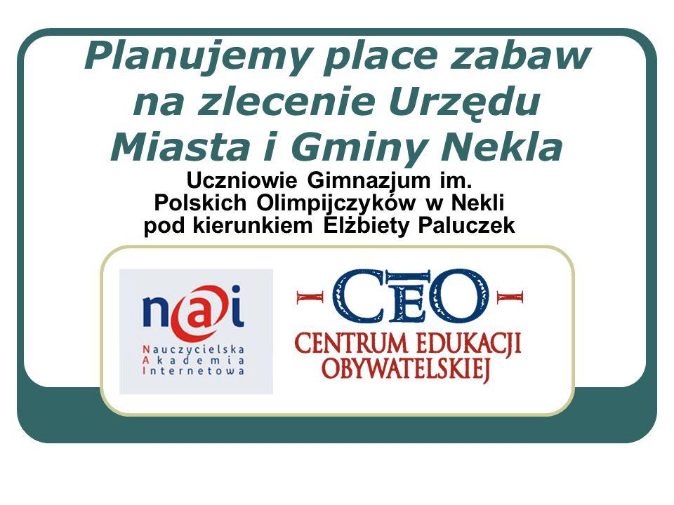 Planujemy place zabaw na zlecenie Urzędu Miasta i Gminy Nekla