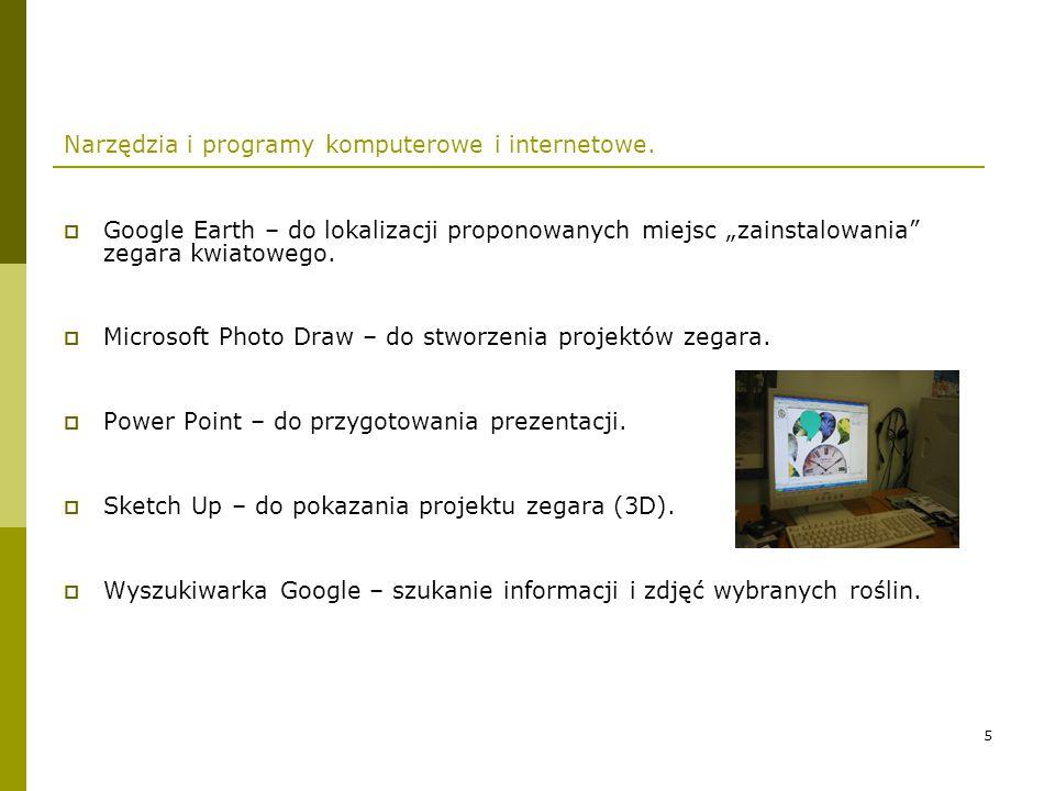 Narzędzia i programy komputerowe i internetowe.
