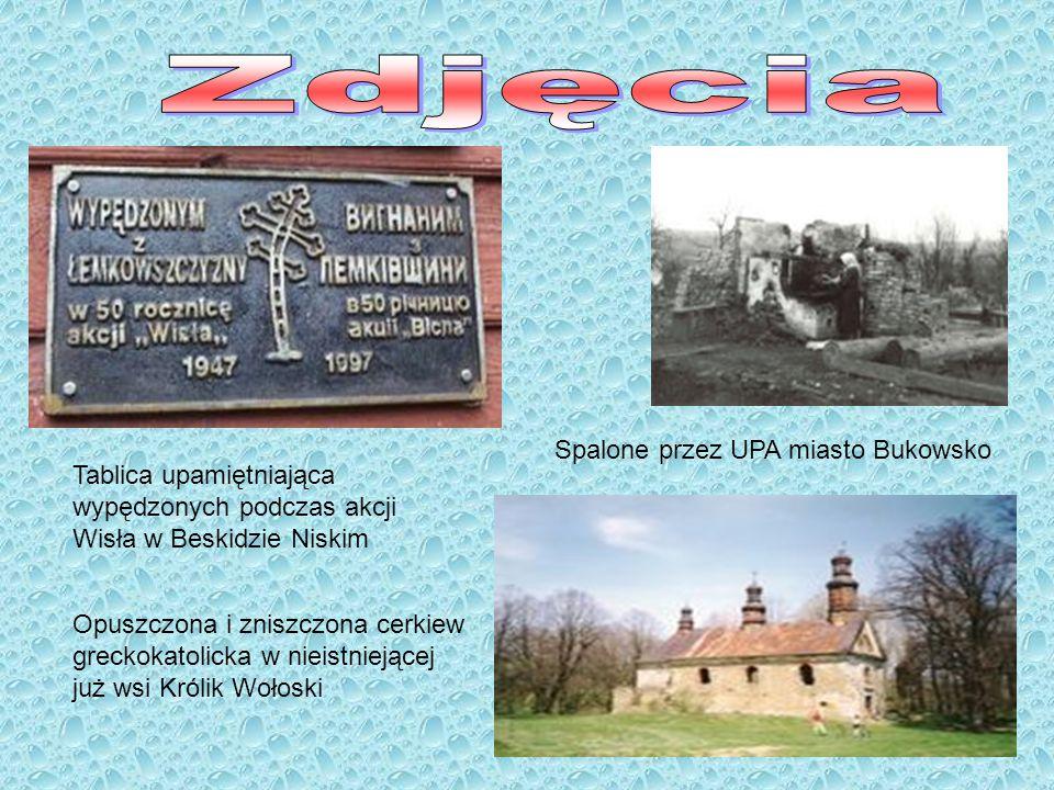 Zdjęcia Spalone przez UPA miasto Bukowsko