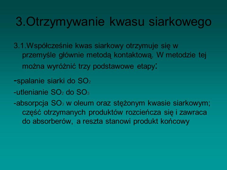 3.Otrzymywanie kwasu siarkowego