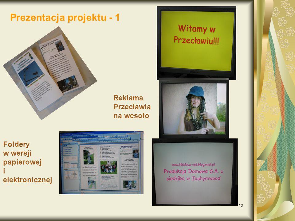 Prezentacja projektu - 1