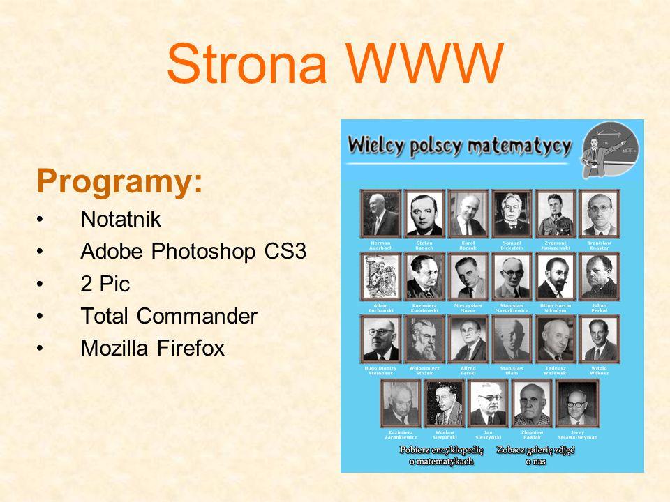 Strona WWW Programy: Notatnik Adobe Photoshop CS3 2 Pic