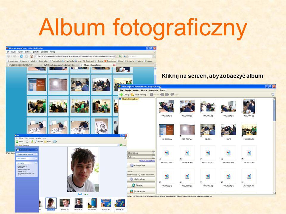 Album fotograficzny Kliknij na screen, aby zobaczyć album