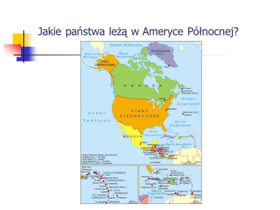 Jakie państwa leżą w Ameryce Północnej