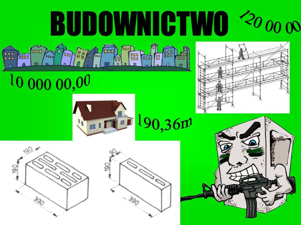 120 00 00 BUDOWNICTWO 10 000 00,00 190,36m