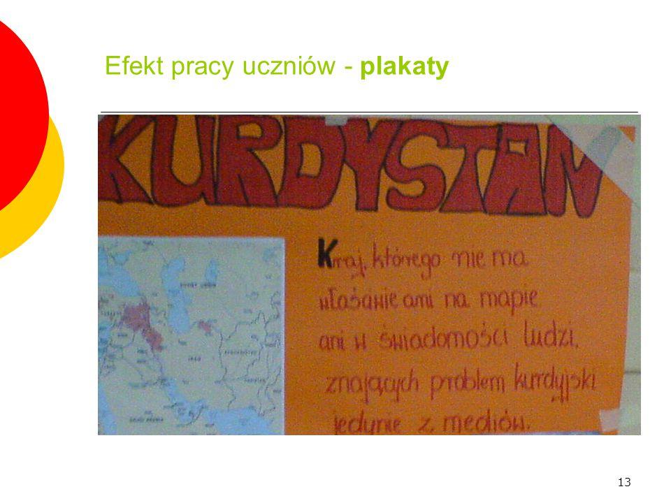 Efekt pracy uczniów - plakaty
