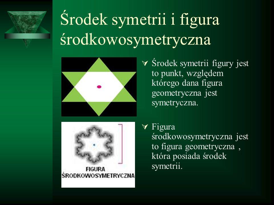 Środek symetrii i figura środkowosymetryczna