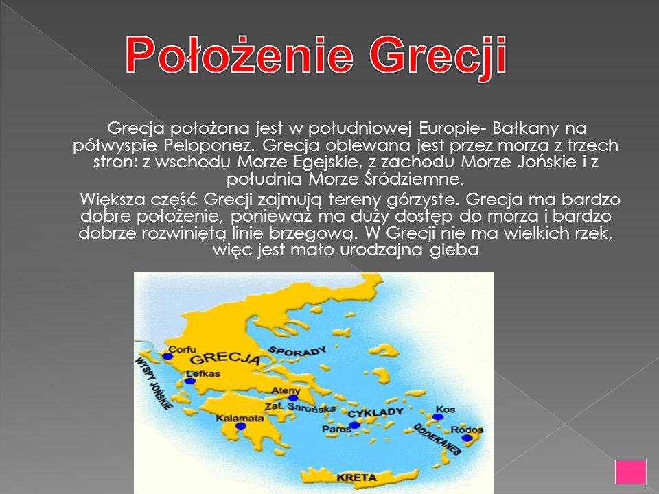 Położenie Grecji