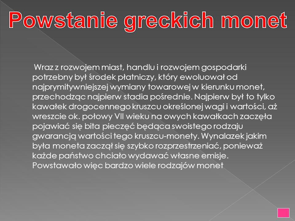 Powstanie greckich monet