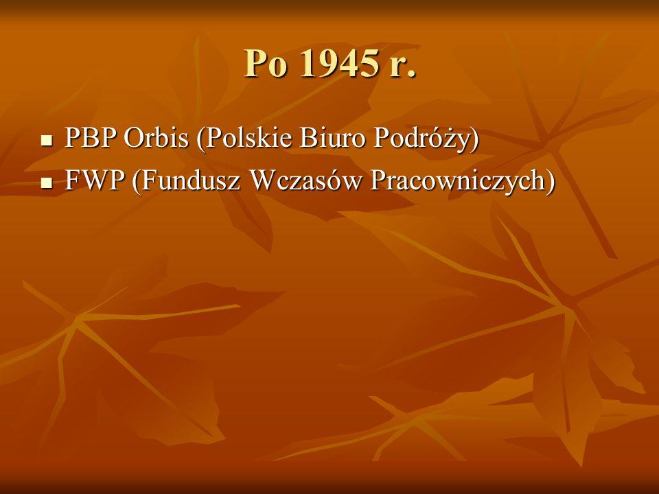 Po 1945 r. PBP Orbis (Polskie Biuro Podróży)