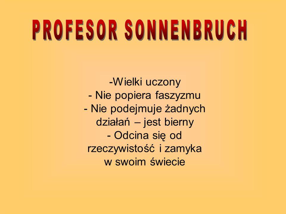 PROFESOR SONNENBRUCH -Wielki uczony - Nie popiera faszyzmu
