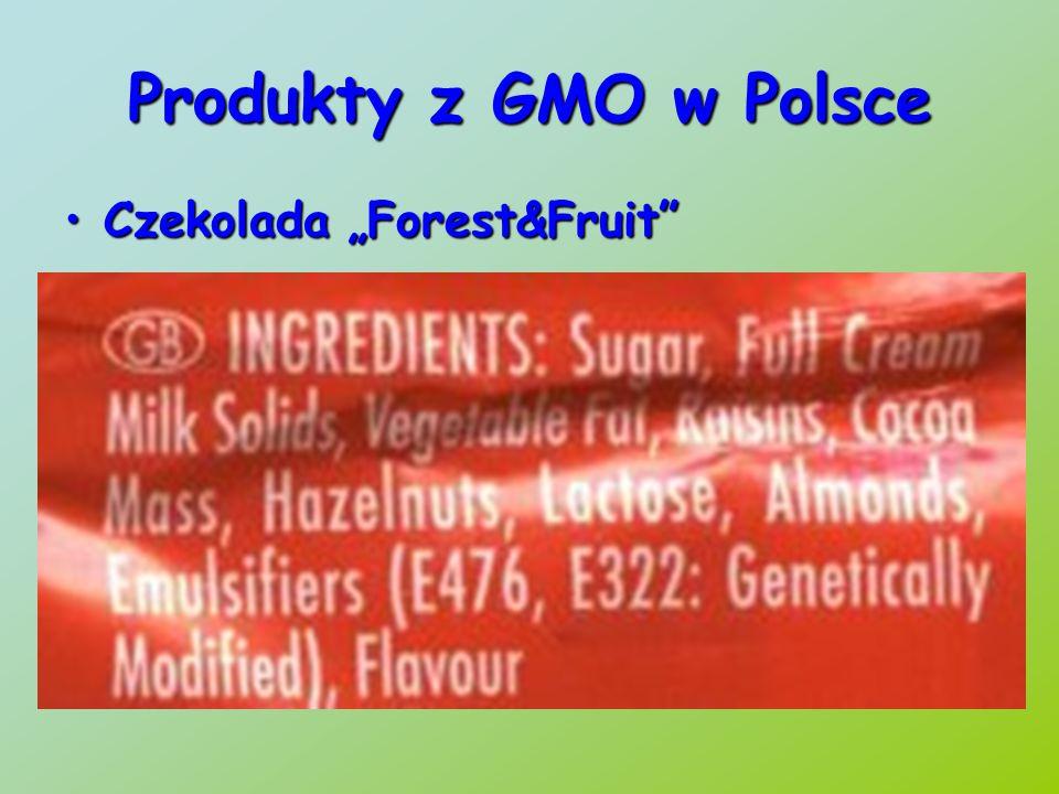 """Produkty z GMO w Polsce Czekolada """"Forest&Fruit"""