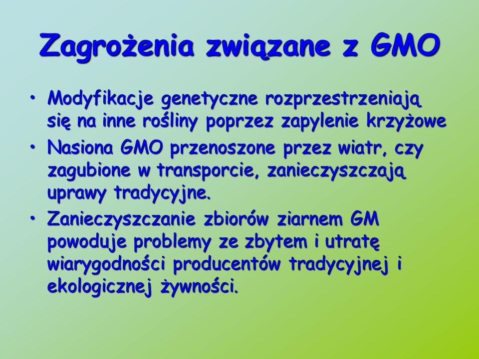Zagrożenia związane z GMO