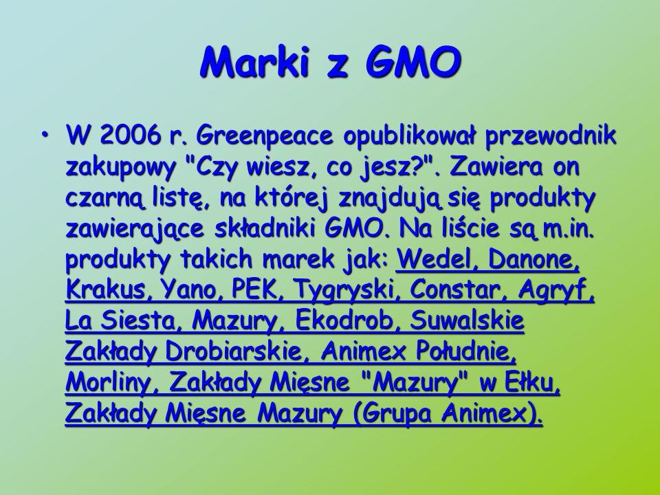 Marki z GMO