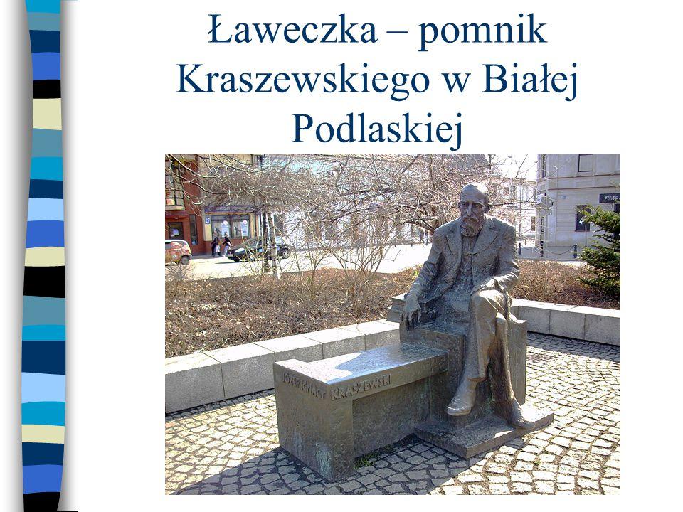 Ławeczka – pomnik Kraszewskiego w Białej Podlaskiej