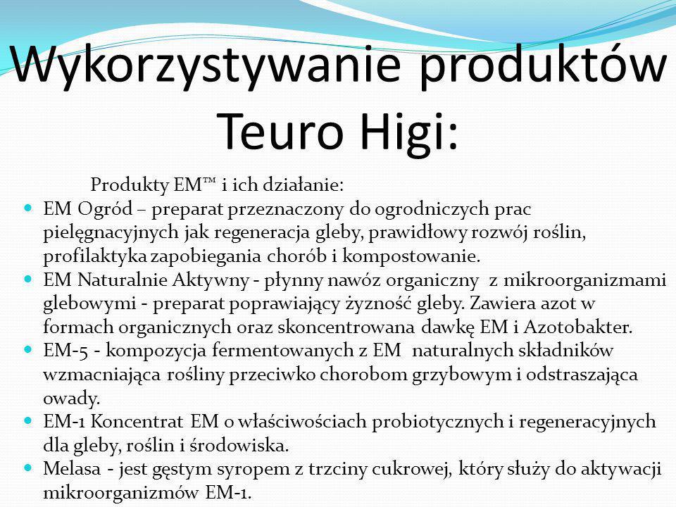Wykorzystywanie produktów Teuro Higi: