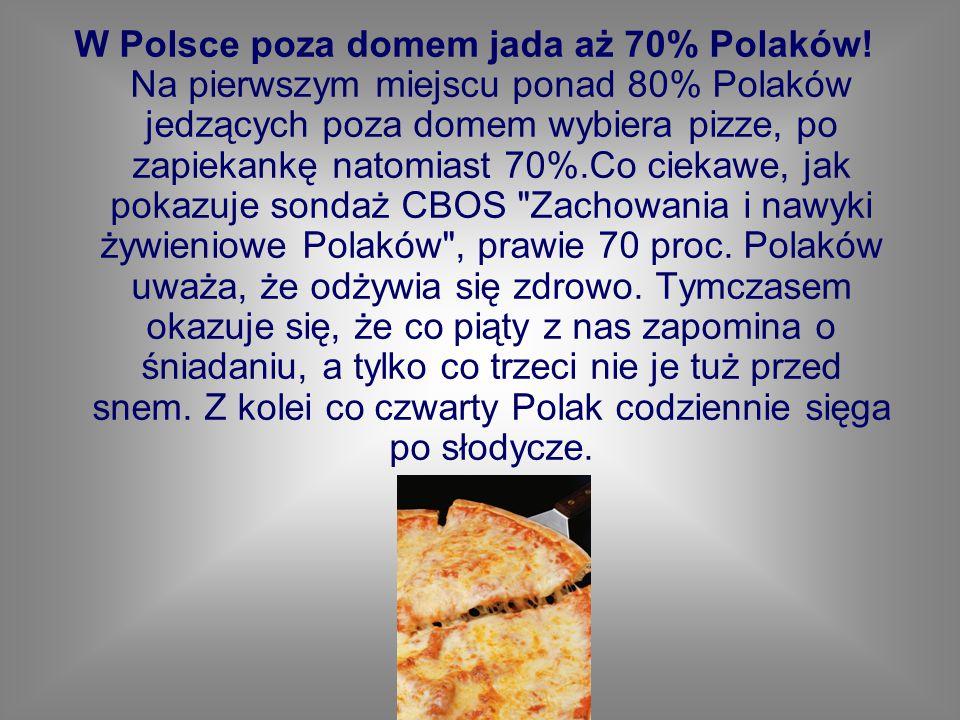 W Polsce poza domem jada aż 70% Polaków
