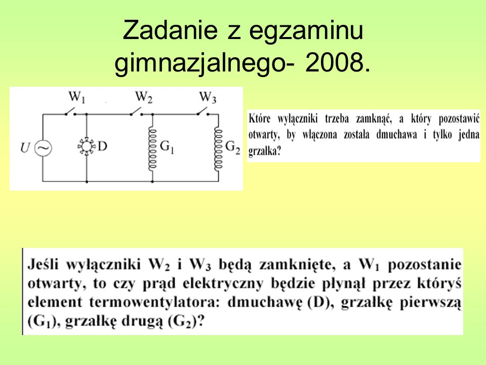 Zadanie z egzaminu gimnazjalnego- 2008.