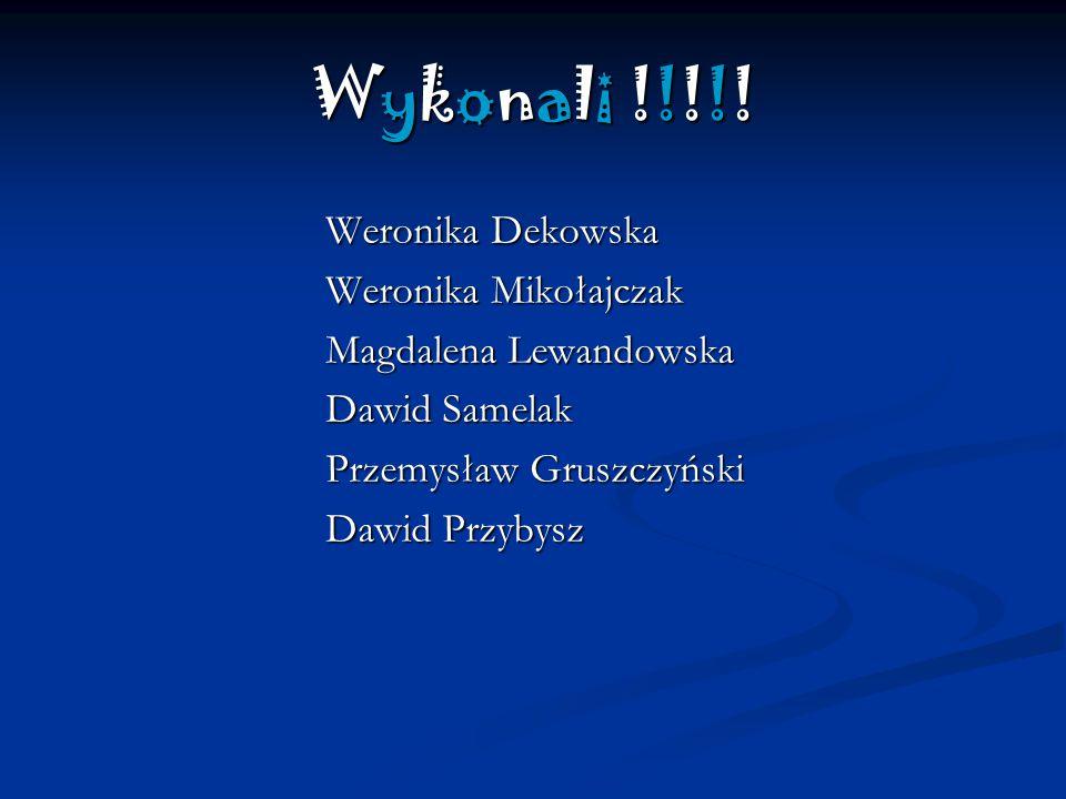 Wykonali !!!!! Weronika Dekowska Weronika Mikołajczak