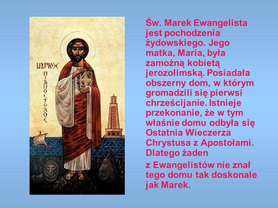 Św. Marek Ewangelista jest pochodzenia żydowskiego