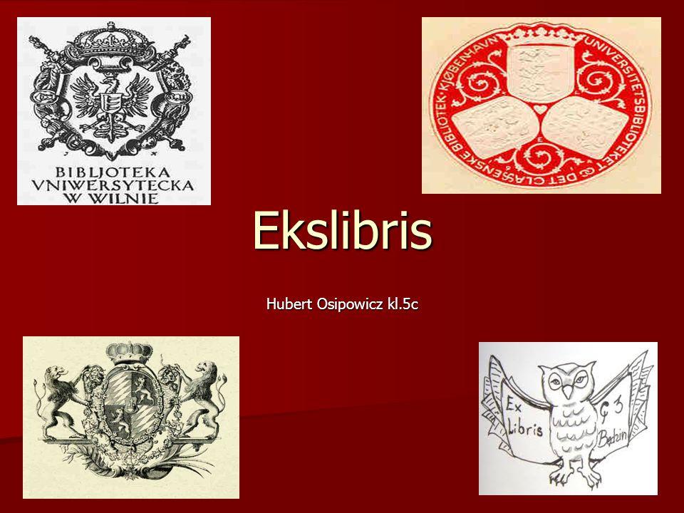 Ekslibris Hubert Osipowicz kl.5c